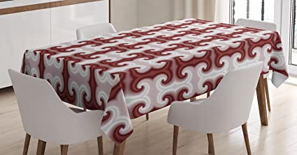 Psychedelic Decor Tablecloth By Ambesonne Digital Age Hazy Shaped Patterns Kitsch Computer Generated Modern Trance