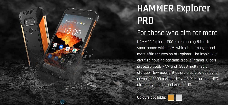 Hammer Explorer Pro 5 7 Ips Outdoor Handy Militärstandard Smartphone Mega Akku 5000mah 48mp Kamera Esim Nfc Wasserdicht Stoßfest Lte 4g Ip69 Dual Sim Android 10 Silber Elektronik