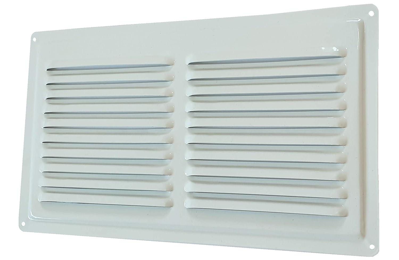 Rejilla de ventilaci/ón de metal en color blanco con recubrimiento en polvo RAL9016 blanco rejilla de ventilaci/ón de metal blanco para exteriores