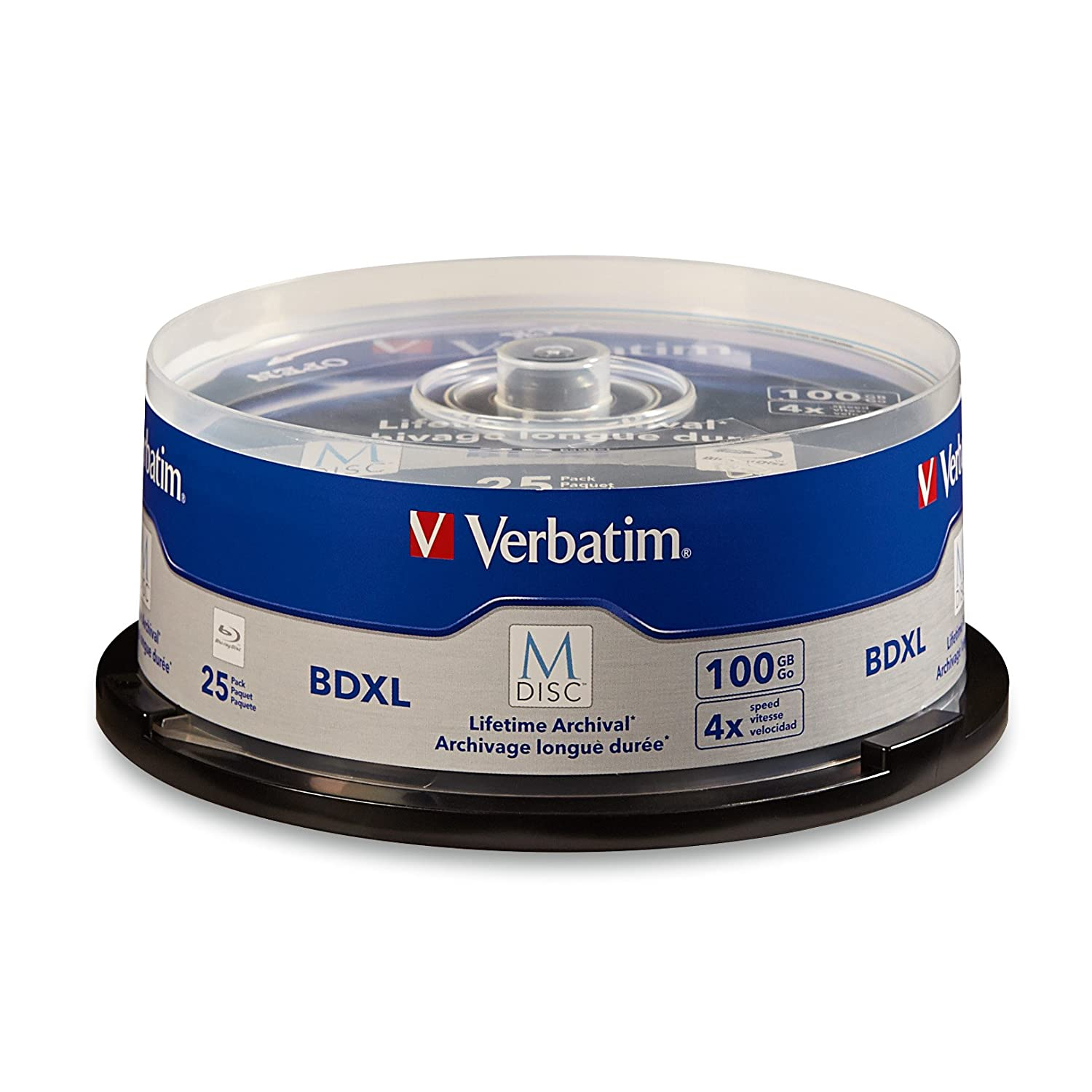 Verbatim 98925 M-Disc BD-R DL 50GB 6X White Inkjet Printable, Hub Printable – 25pk Spindle VERBATIM CORPORATION