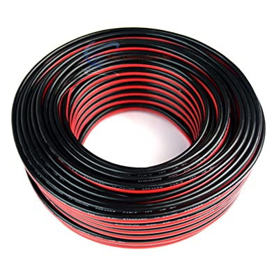 Audiopipe 12 GA Gauge Red Black Stranded 2 Conductor Speaker Wire For Car, Home Audio, 100 feet: Home Improvement