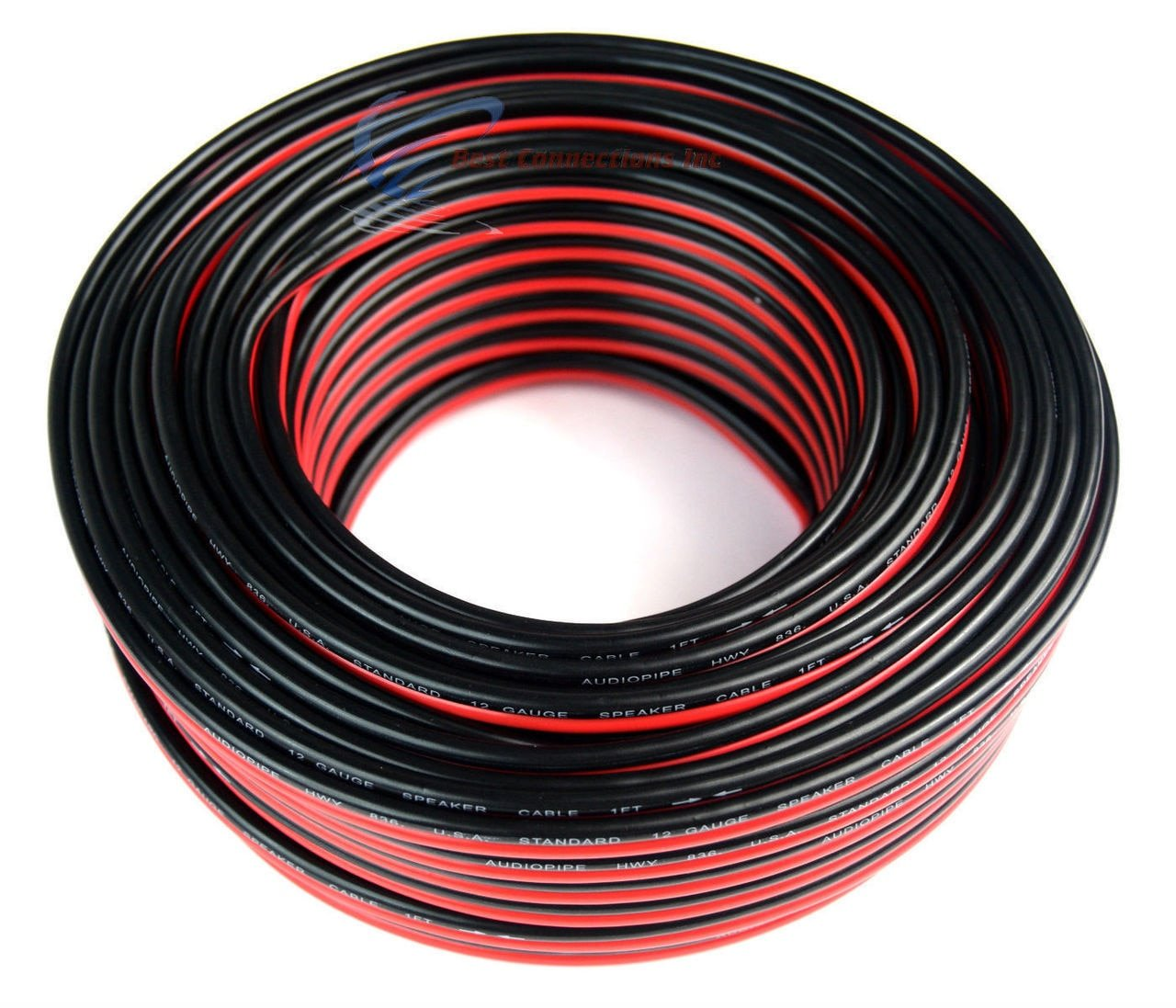 Audiopipe 12 Ga Gauge Red Black Stranded 2 Conductor Battery Cable 100 Ft Wiring Products Speaker Wire For Car Home Audio Feet Improvement