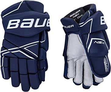 Bauer S18 NSX Senior Hockey Gloves - Ergo Flex Thumb, Nash Palm with Overlay