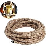 Cable eléctrico de 3 núcleos de alambre de cobre trenzado vintage, para bricolaje industrial y lámpara colgante