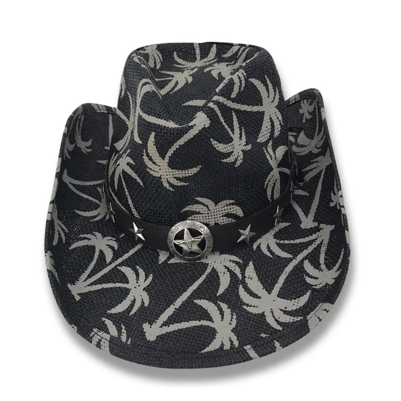 AccessHeadwear Old Stone Las Palmas Men's Women's Unisex Cowboy Drifter Style Hat, Black