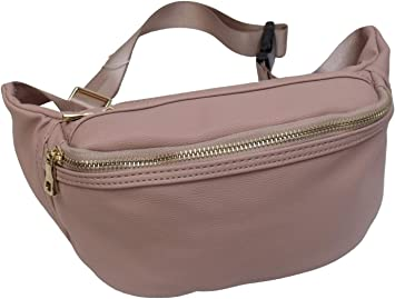 """waist bag Fanny pack 47/"""" adjustable band New Leather waist pouch leather bag"""