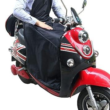 KINDAX Cubre Piernas para Moto Universal Manta para Scooter Impermeable Oxford - Color Negro