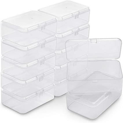 Belle Vous Lot De 12 Petite Boite Plastique Boite Rangement Plastique Transparent 9 X 6 X
