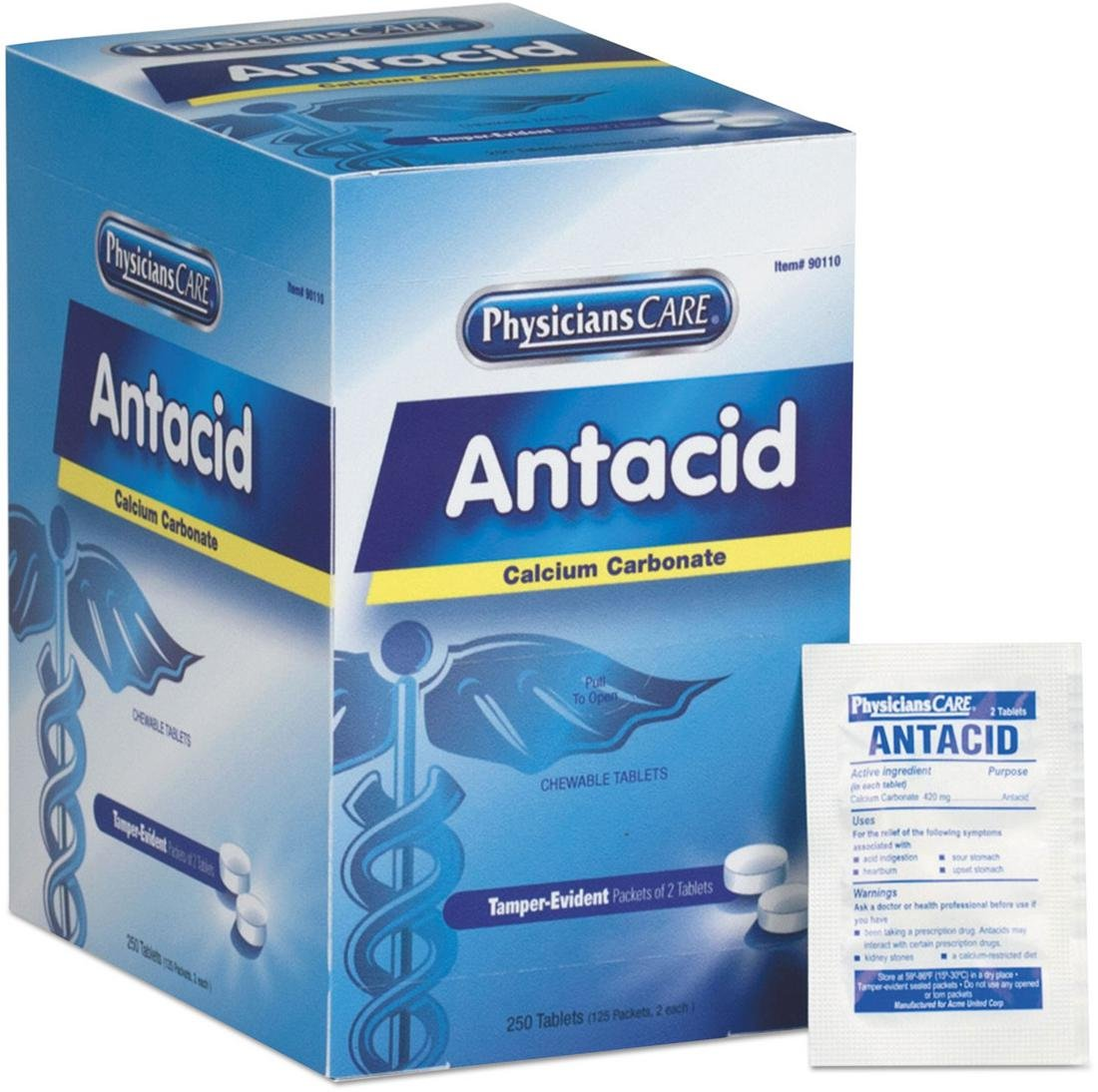 First Aid Only 90110 PhysiciansCare Antacid, 125x2/box