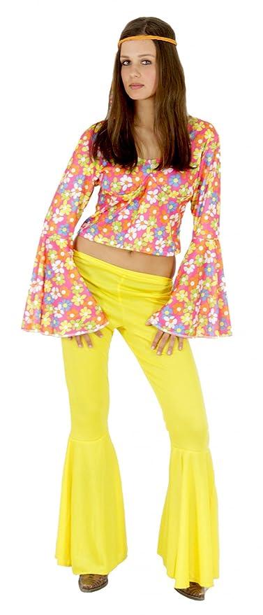 Foxxeo Traje Hippie de los años 60s 70s para Damas con ...