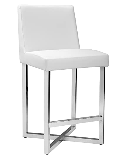 Amazoncom Sunpan 100220 Ikon Counter Stools White Kitchen Dining