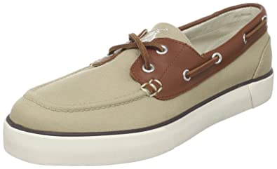 Polo Ralph Lauren Mens Rylander Boat Shoe       Khaki Tan Cream
