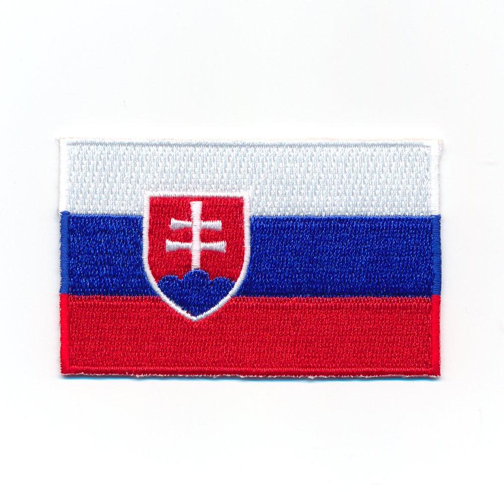 60x 35mm Drapeau Slovaquie Bratislava Flag Sport Écusson thermocollant patch 1014B