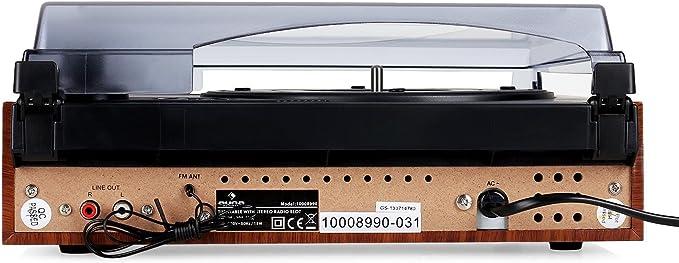 auna TT-83N - Tocadiscos con Altavoz , Reproductor de vinilos ...