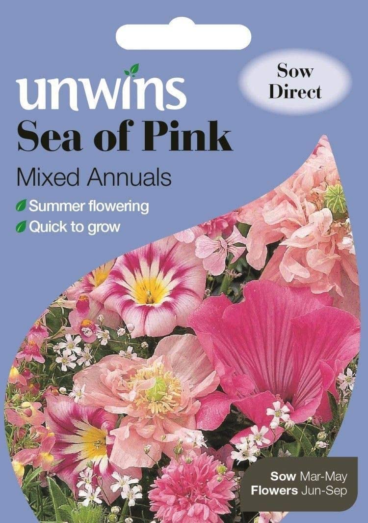 ScoutSeed se quiebra Sea of ​​Pink Mixed Annuals 500 Semillas Sow hasta el 09/2020