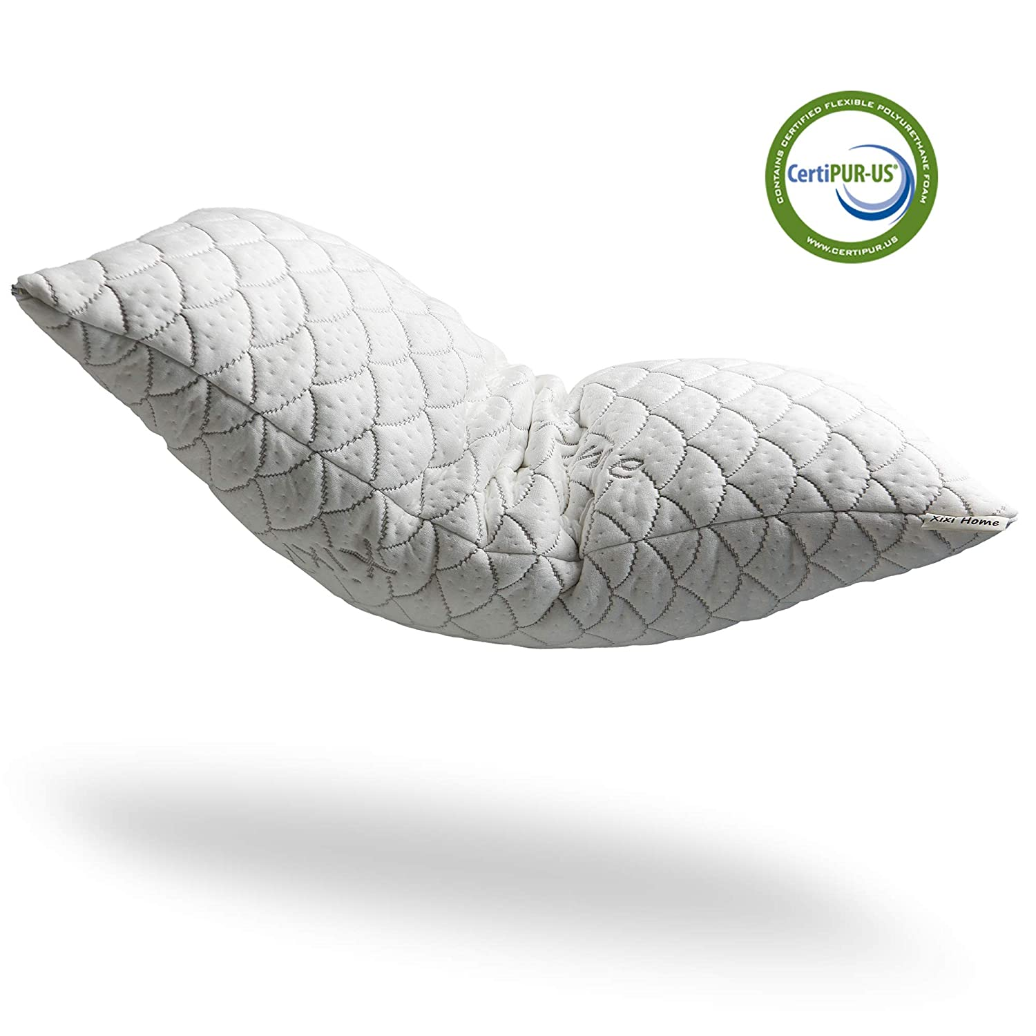 XixiHome Adjustable Hypoallergenic Shredded Memory Foam Pillow (Most Adjustable Pillow)