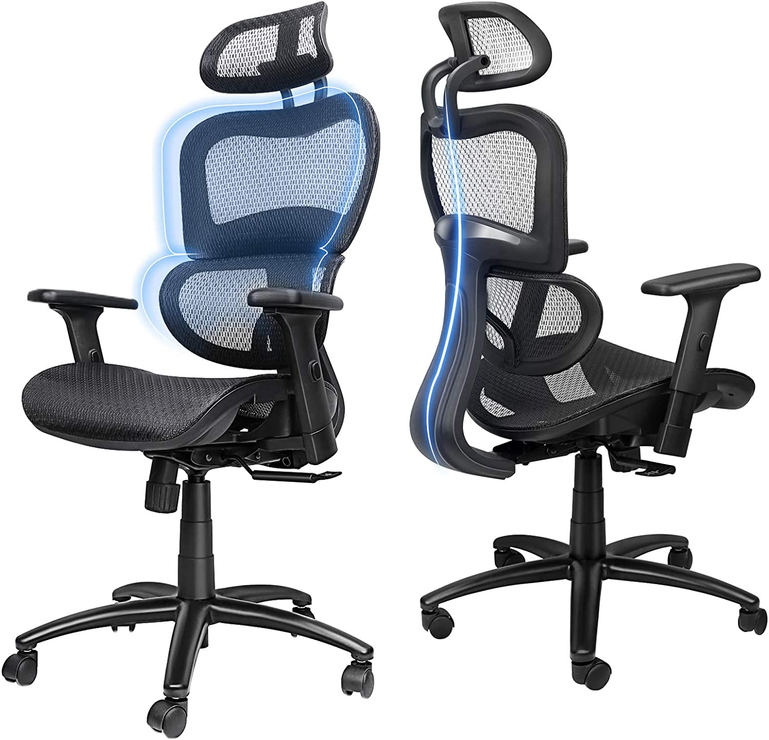 71iyy3ZGFNL. AC SL1500 - What Are The Best Office Chair For Degenerative Disc Disease - ChairPicks