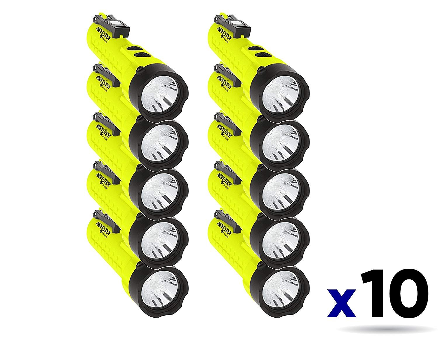 Nightstick XPP-5422GMX X-Series Intrinsically Safe Dual-Light Flashlight with Dual Magnets Green/Black (10 Pack)