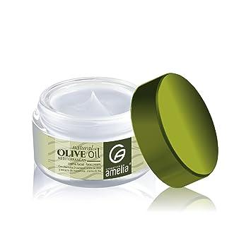 Amelia Cosmetics Crema Hidratante con Aceite de Oliva con Vitamina E y E Panthenol - 5 Recipientes de 50 ml - Total: 250 ml: Amazon.es: Belleza