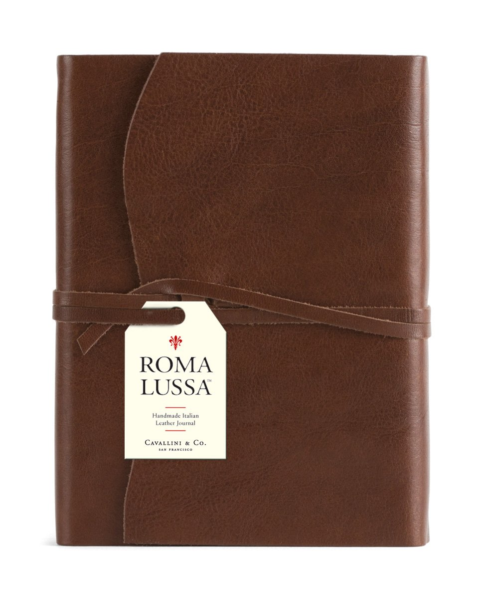 Cavallini & Co. Roma Lussa Leather Journal Chocolate