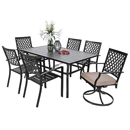 Astonishing Amazon Com Phi Villa Outdoor Patio 4 X Dining Chairs 2 X Andrewgaddart Wooden Chair Designs For Living Room Andrewgaddartcom