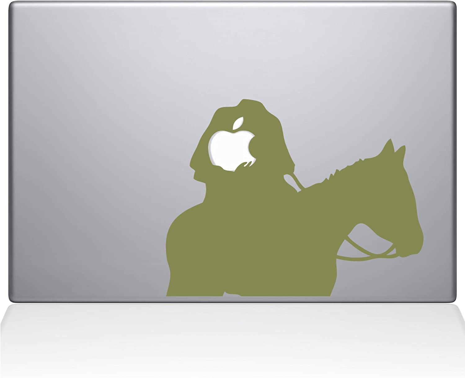 "The Decal Guru Headless Horseman MacBook Decal Vinyl Sticker - 13"" MacBook Pro (2015 & Older) - Gold (1080-MAC-13P-G)"