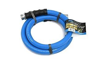 """BluBird AG-Lite Rubber Hot & Cold Water Rubber Garden Hose: Ultra-Light & Super Strong(5/8"""" x 6')- BSAL5806"""