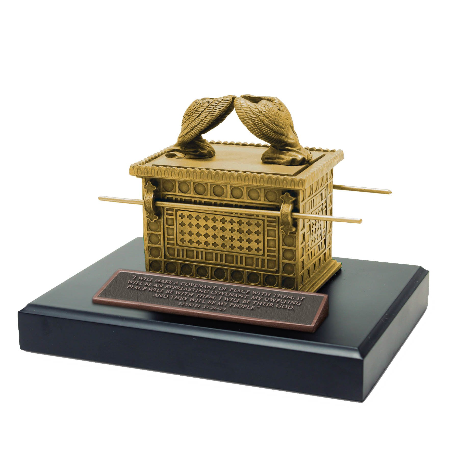 Lighthouse Christian Products Moments of Faith Ark of The Covenant Sculpture, 4 1/2''