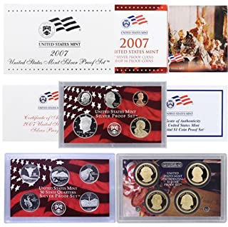 2007 S US Mint Silver Proof Set OGP