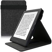kwmobile Hoes compatibel met Kobo Glo HD/Touch 2.0 - lusstandaard - e-reader-beschermhoes - stof donkergrijs