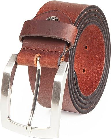 LINDENMANN- Cinturón de cuero para hombre / cinturones hombres ...