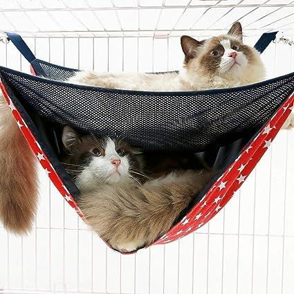 Malla transpirable Cama de gato de doble capa Hamaca Jaula de gato Colchón colgante de doble capa Ropa de cama: Amazon.es: Instrumentos musicales