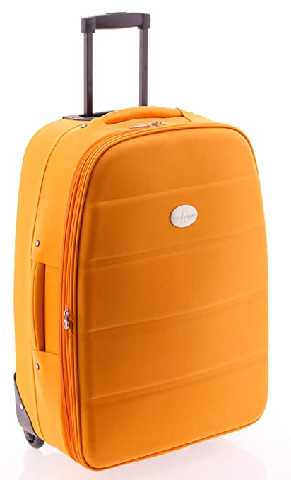 Maleta Mediana 60 cm, Roma de John Travel (Naranja): Amazon ...