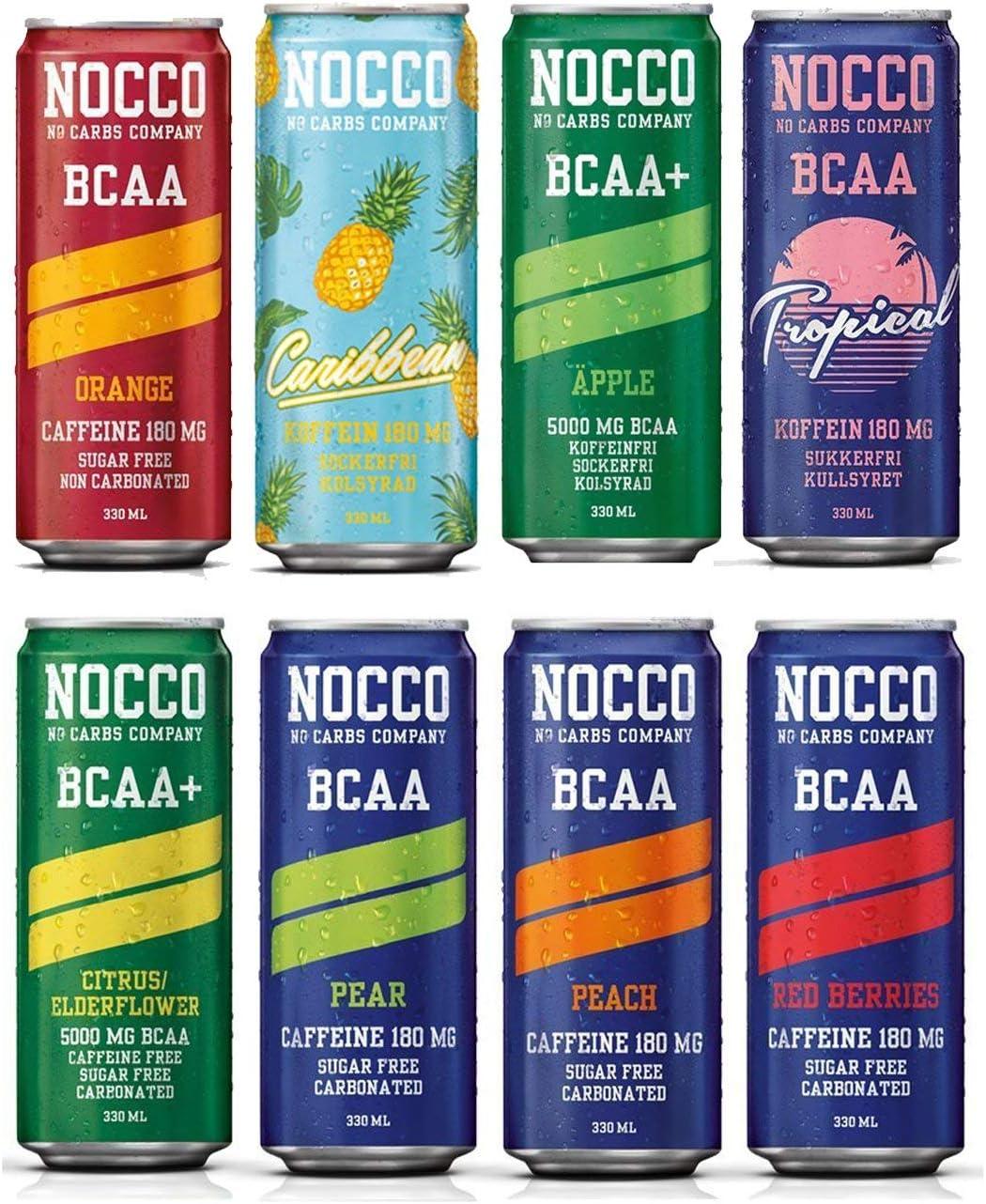 Estuche mixto NOCCO (No Carbs Company) (12 latas de 330 ml) todos los sabores