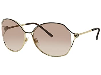 6252c703450 Image Unavailable. Image not available for. Colour  Gucci Gg 2846 S 0Yd3  Gold Darkbrown Sunglasses