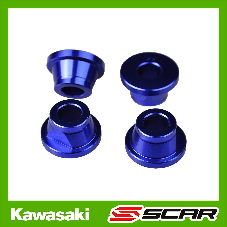 CONES ALU DOUILLES PONTET KAWASAKI KXF 250 450 KX250F KX450F BLEU 92161-0929 SCAR