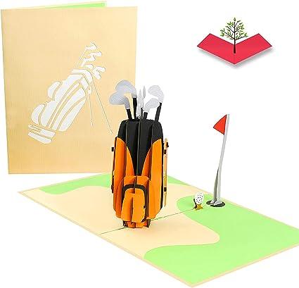 Poplife Cards Club De Golf Et Trou Dans Une Carte Pop Up Fete Des Peres Pour