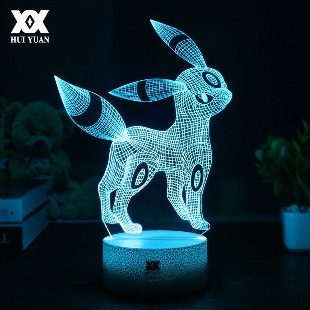 usxiaobidengクリエイティブPokemon 3dランプVisual Illusion USB Cartoon Night Light LED 7色スリープテーブルランプ子供クリスマスギフト H56976987 B07D6NVHSV 19456 With Remote Control With Remote Control