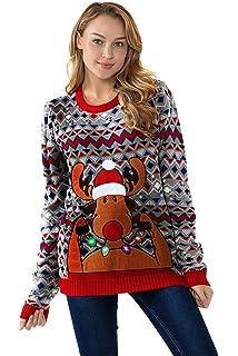 2018 Designs Range Unisex Men s Knit Christmas Ugly Sweater Funny Santa Reindeer  Pullover 6adb76836