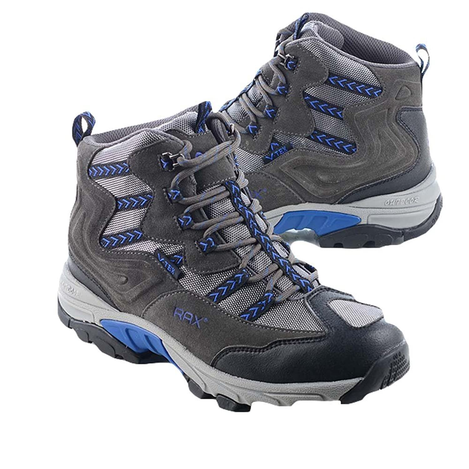Chicside Men's Simple Solid Round Toe Hiking Shoes