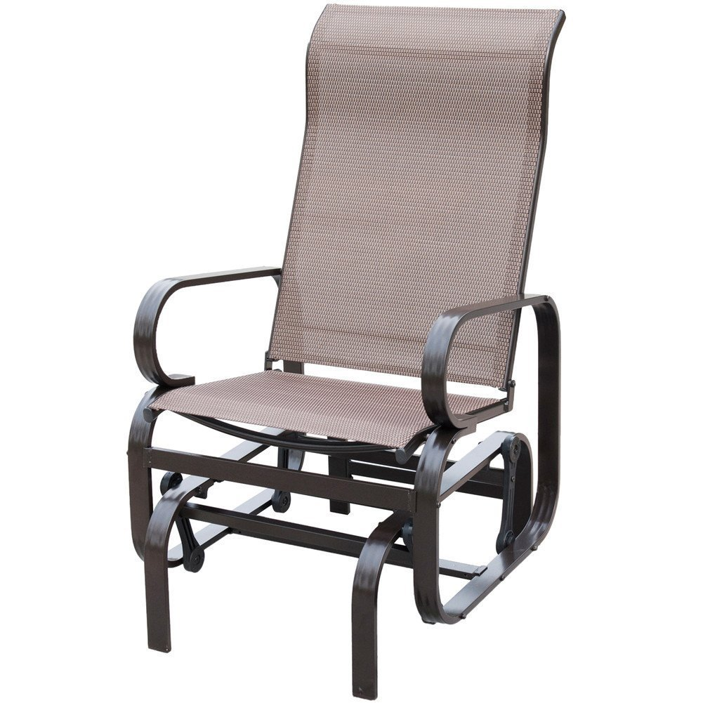 PatioPost Sling Glider Outdoor Patio Chair Textilene Mesh Fabric, Mocha by PatioPost (Image #1)