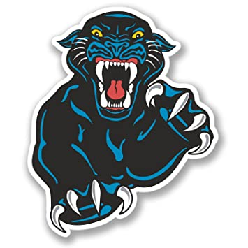 2 x black panther stickers