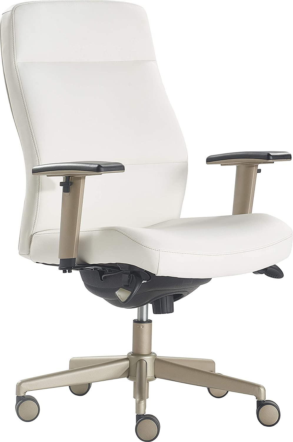 LaZBoy Baylor Executive Office Chair, White
