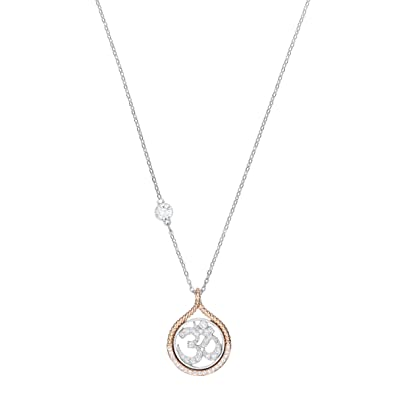 5082fa9425f08 Swarovski Women's Mixed Plated White Humanist Anchor and Knot Pendant