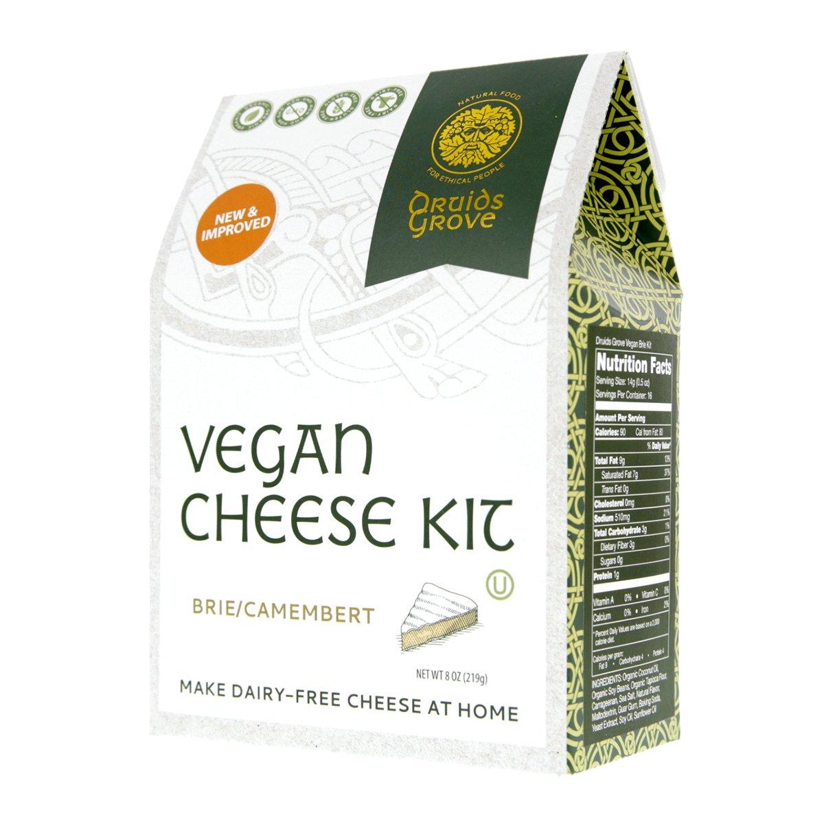 Druids Grove Vegan Brie Kit (Nondairy Cheese) ☮ Vegan ⊘ Non-GMO ❤ Gluten-Free ✡ OU Kosher Certified by Druids Grove