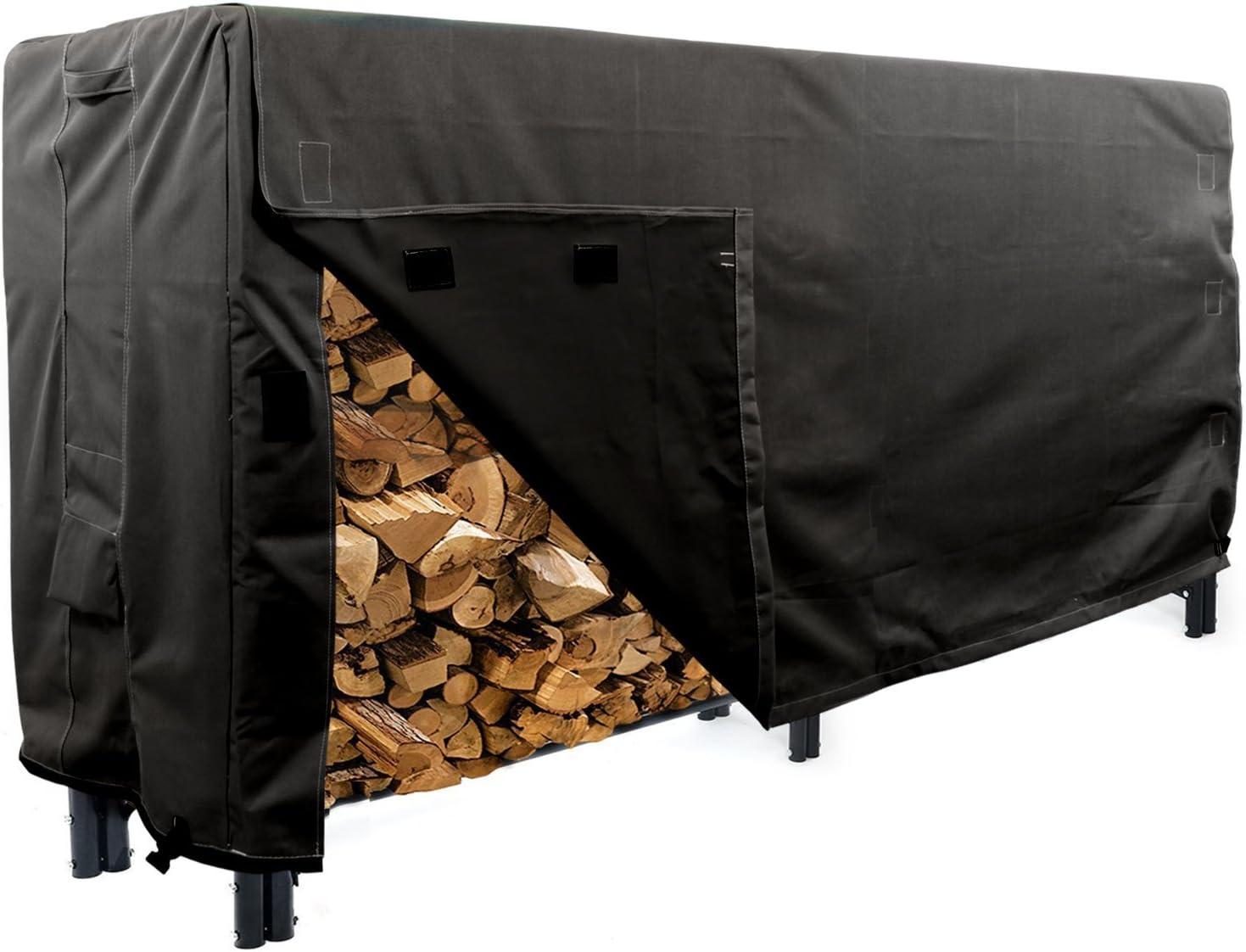 KHOMO GEAR - Heavy Duty Log Rack Cover - 8' - Panther Series - Black