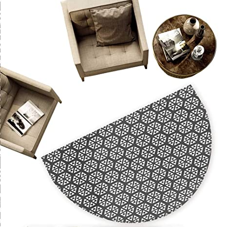 Amazon.com: Cojín geométrico semicircular moderno y elegante ...