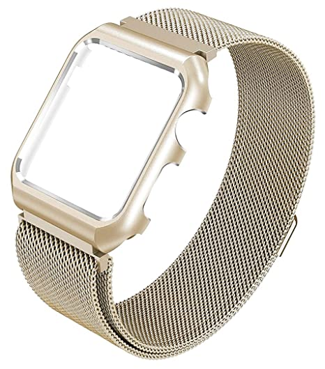 Yometome Apple Watch Correas 38mm 42mm, Bandas de Reemplazo de Acero Inoxidable con Correa de