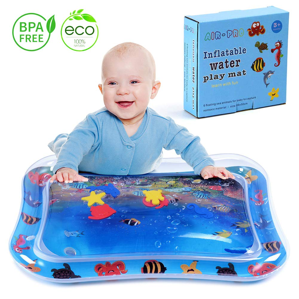 MAGIFIRE Inflatable Tummy Time Water Mat Infant Baby Play Mat Toy for Newborn Play Activity Center and Baby's Stimulation Growth
