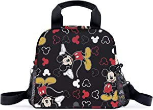 Reusable Insulated Cooler Lunch Bag - Mic_key Mouse Lunch Bag - Portable Lunch Box for Office Work School Picnic Beach Workout Travel